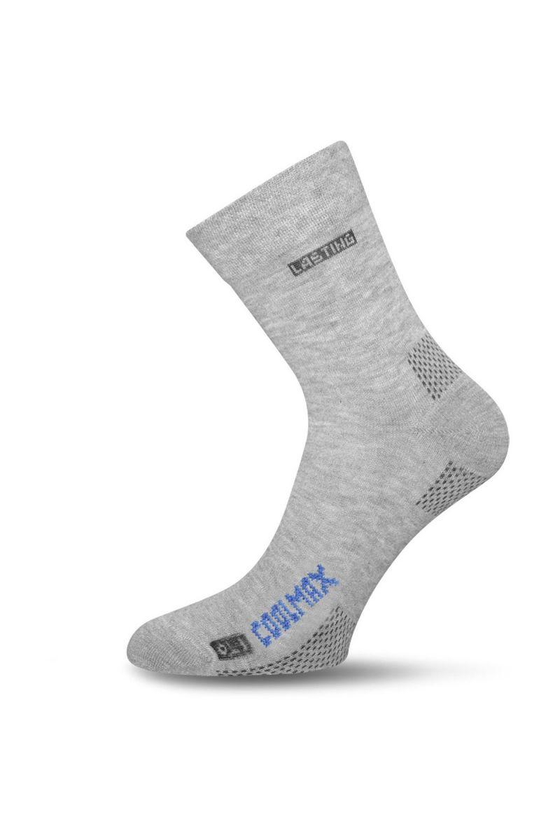 Lasting OLI 800 šedá Coolmax ponožky Velikost: (38-41) M